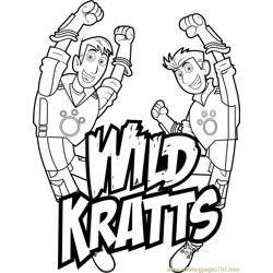 Wild Kratts Logo Free Coloring Page for Kids