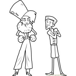 Zach and Donita Free Coloring Page for Kids