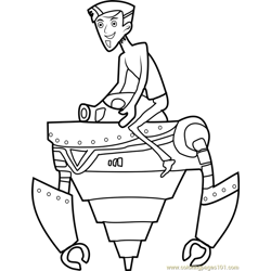 Zachbots Free Coloring Page for Kids