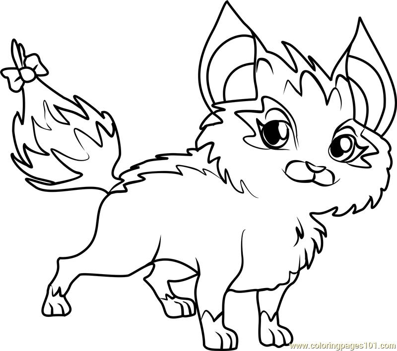 critty winx club coloring page