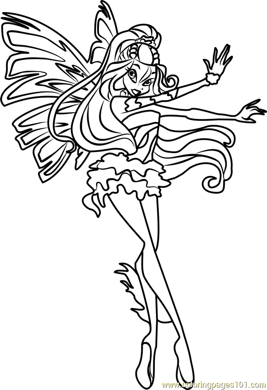 Daphne Winx Club Coloring Page