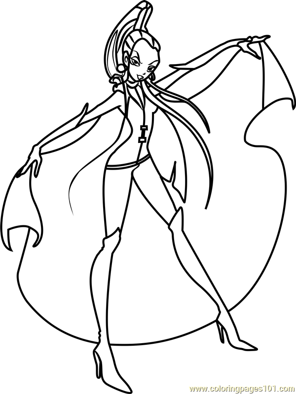 Icy Winx Club Coloring Page Free Winx Club Coloring Pages