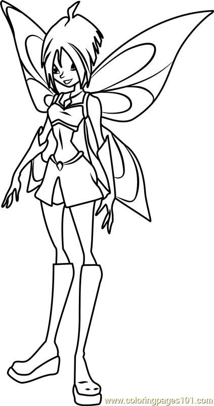 Mirta Winx Club Coloring Page