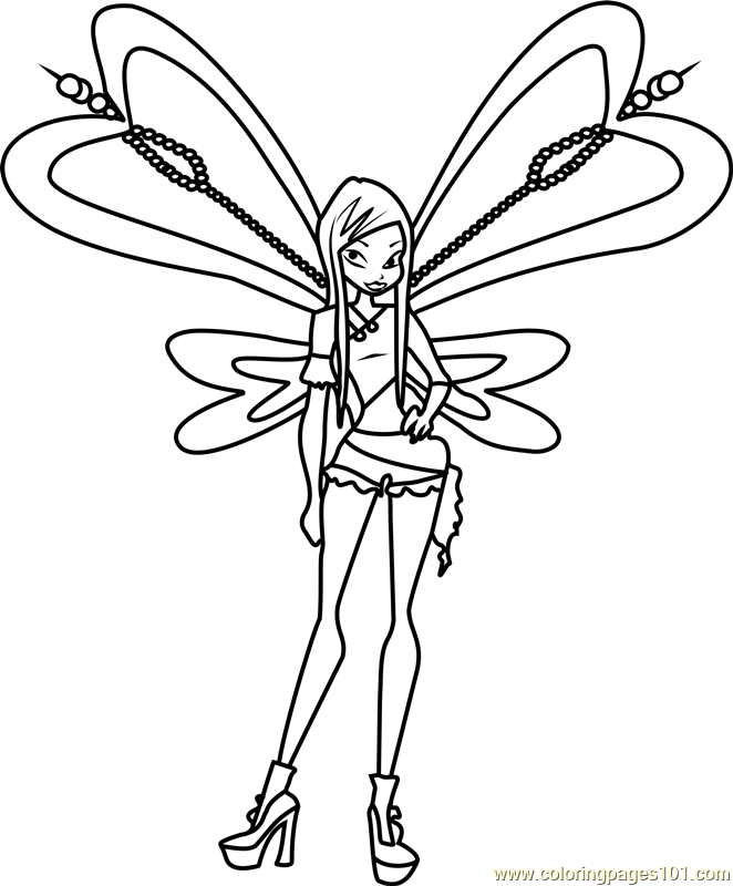 Roxy Winx Club Coloring Page  Free Winx Club Coloring Pages