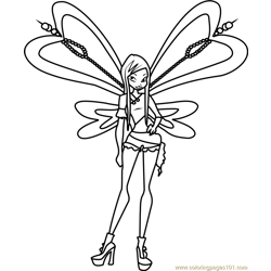 Roxy Winx Club coloring page