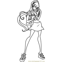 Stella Winx Club coloring page