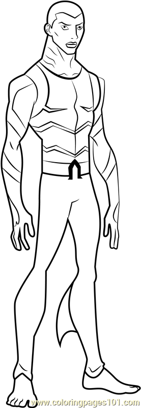 Aqualad Coloring Page