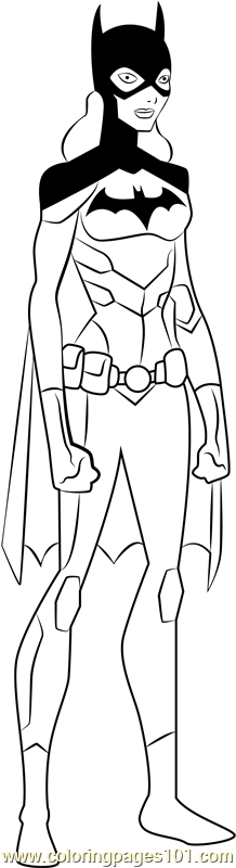 Batgirl Coloring Page - Free Young Justice Coloring Pages ...