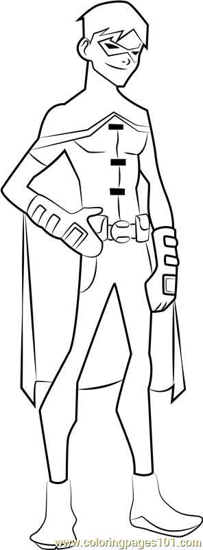 Free Young Justice Coloring Pages