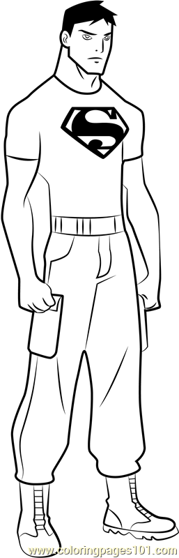 Superboy Coloring Page Free Young