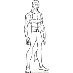 Aqualad Free Coloring Page for Kids