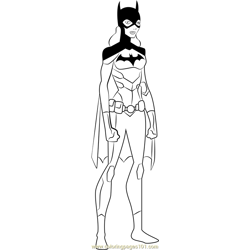 Batgirl Free Coloring Page for Kids