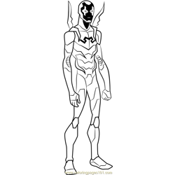 Blue Beetle Free Coloring Page for Kids