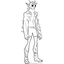Lagoon Boy coloring page