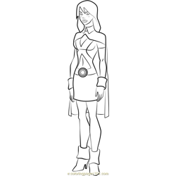 Miss Martian coloring page