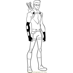 Red Arrow coloring page