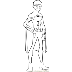 Robin Free Coloring Page for Kids