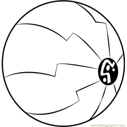 Sphere Free Coloring Page for Kids