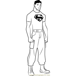 Superboy Free Coloring Page for Kids