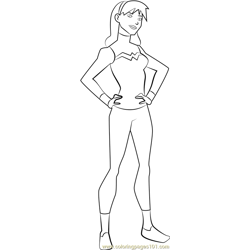 Wonder Girl Free Coloring Page for Kids