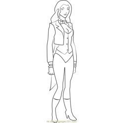 Zatanna Free Coloring Page for Kids