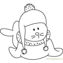 Baby Santa Claus Free Coloring Page for Kids
