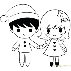 Boy and Girl on Xmas