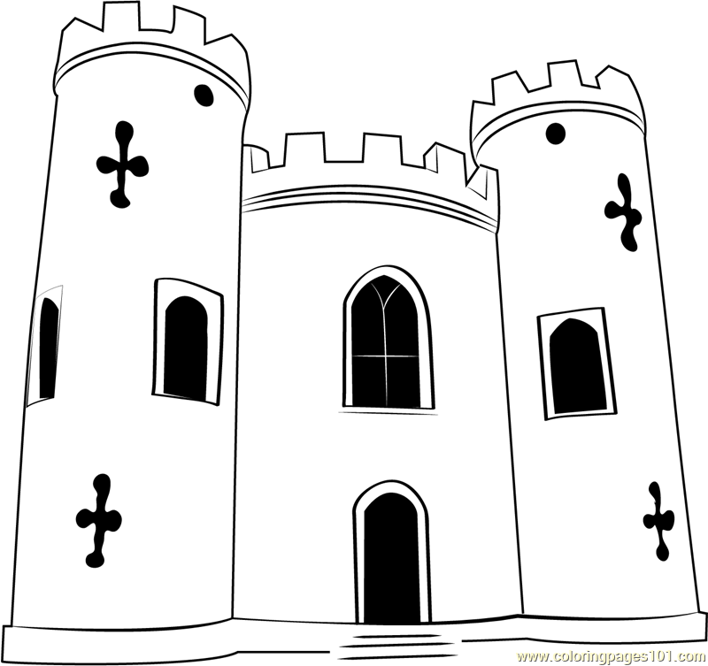 Blaise Castle House Coloring Page