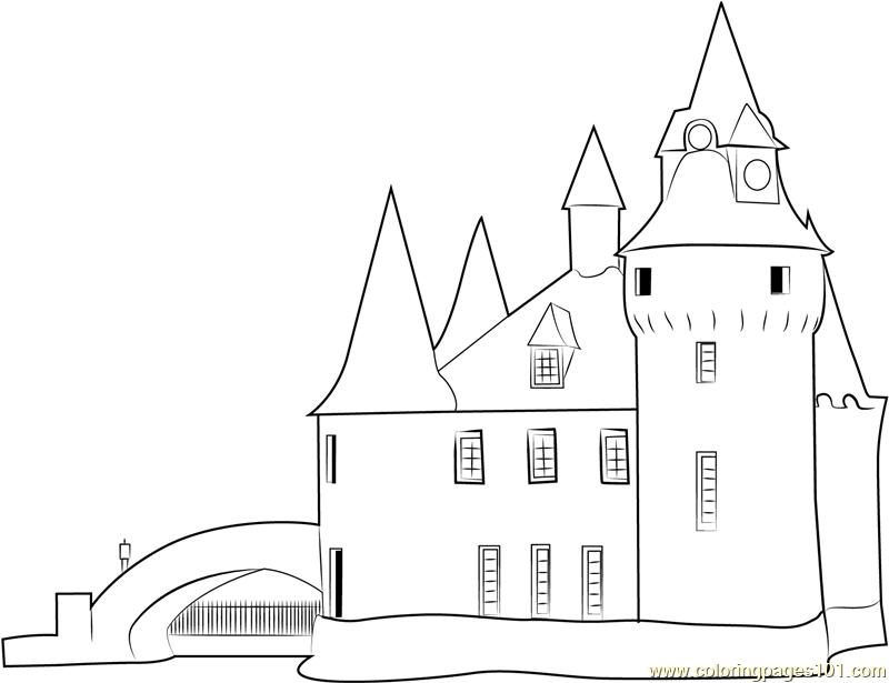 Disney Frozen Coloring Pages Castle