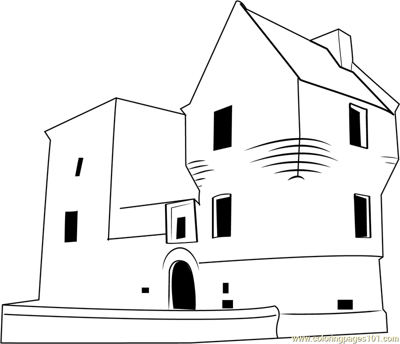 Burleigh Castle Coloring Page