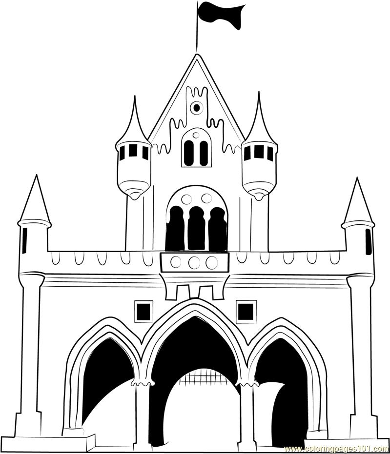 walt disney castle coloring page free castle coloring