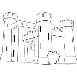 Bath Castle Lodge Free Coloring Page for Kids