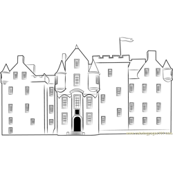 Blair Castle Facade Free Coloring Page for Kids