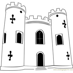 Blaise Castle House Free Coloring Page for Kids