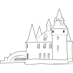 Boldt Castle Power House Free Coloring Page for Kids