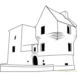 Burleigh Castle Free Coloring Page for Kids