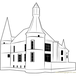 Castle Jehay Belgium Free Coloring Page for Kids
