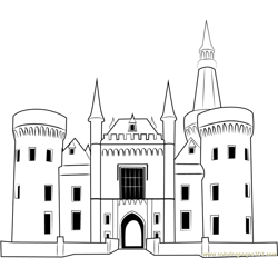 Castle Free Coloring Page for Kids