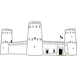 Desert Castle Free Coloring Page for Kids