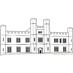 Leeds Castle Free Coloring Page for Kids