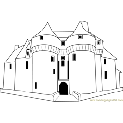 Moschnye Steny Castle Free Coloring Page for Kids