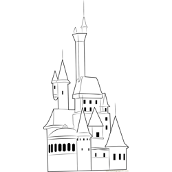 Neuschwanstein Castle Free Coloring Page for Kids