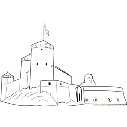 Olavinlinna Castle Free Coloring Page for Kids