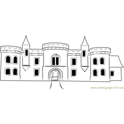 Raglan Castle Free Coloring Page for Kids