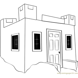 Tiny Castle Free Coloring Page for Kids