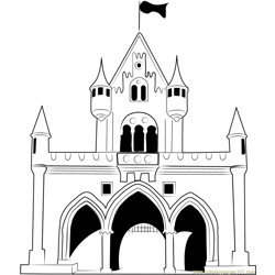 Walt Disney Castle Free Coloring Page for Kids