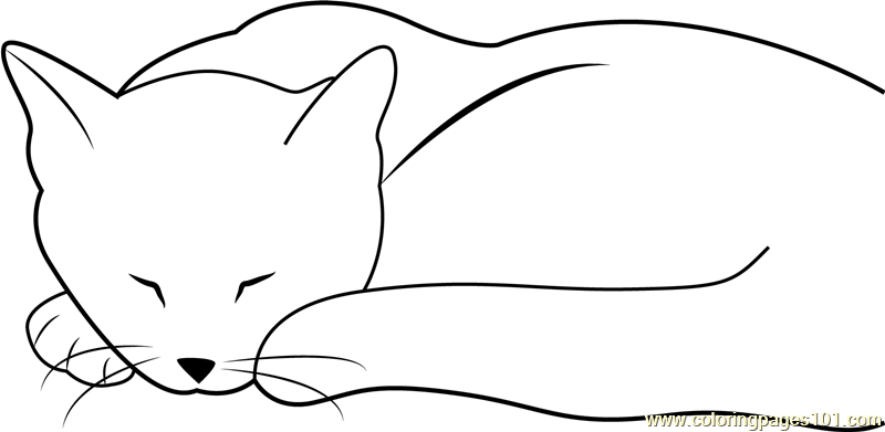 cat dreaming coloring pages - photo#18