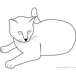 Cat Stock by Malleni Free Coloring Page for Kids