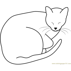 Sleeping Fat Cat by Jedijaruto Free Coloring Page for Kids