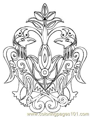 Celtic018 Coloring Page  Free Celtic Coloring Pages